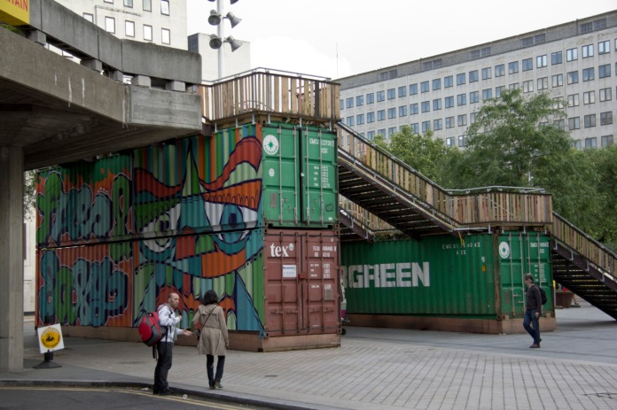 Graffiti on Containers at Hayward Gallery
