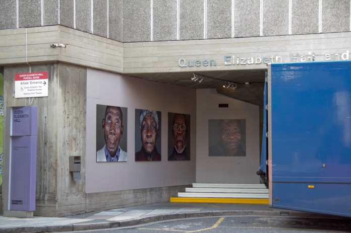 Portraits at the Royal National Theatre's Back Entrance