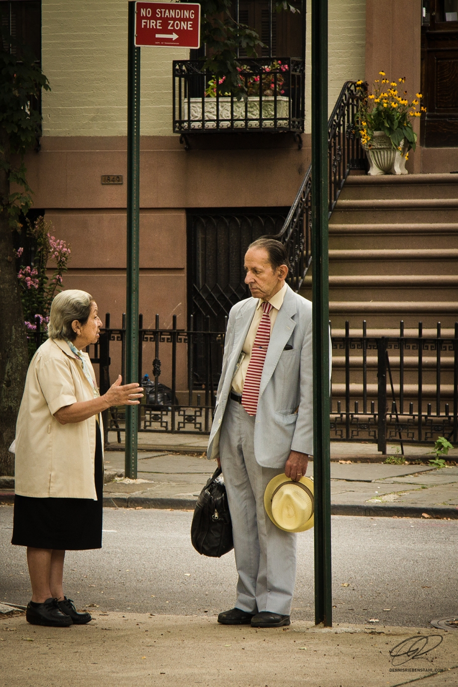 Two Brooklyn neighbours having a chat.