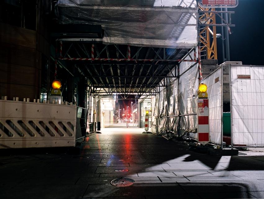 Night Construction Jungfernstieg
