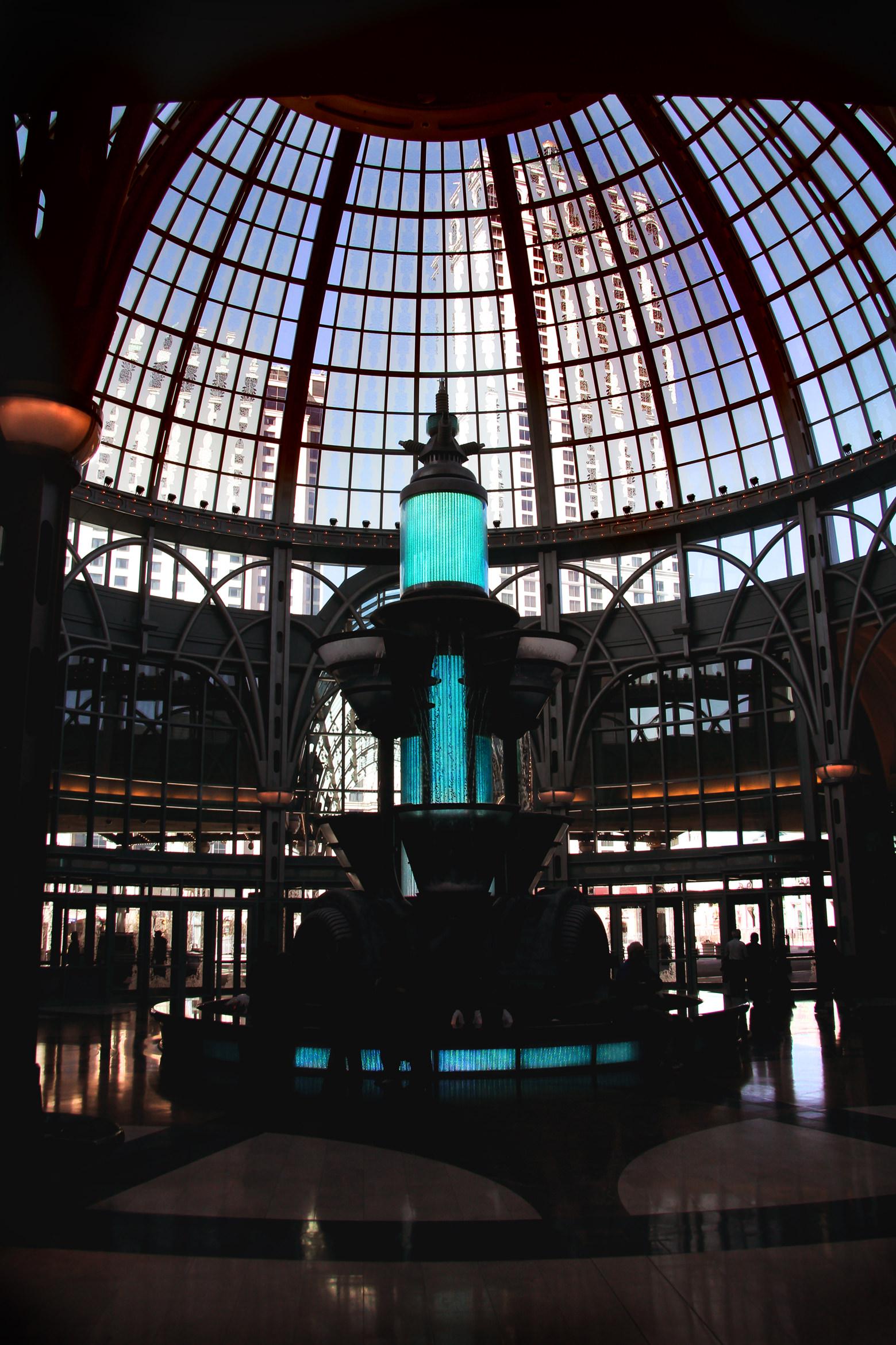 Fountain at Niagara Falls Casino - by Dennis Riebenstahl