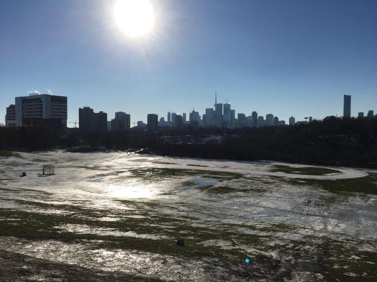Toronto's Skyline from Broadview - by Dennis Riebenstahl