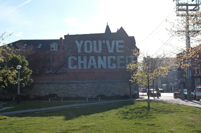 You've Changed – Street Art in Toronto – Visuelles Logbuch by Dennis Riebenstahl