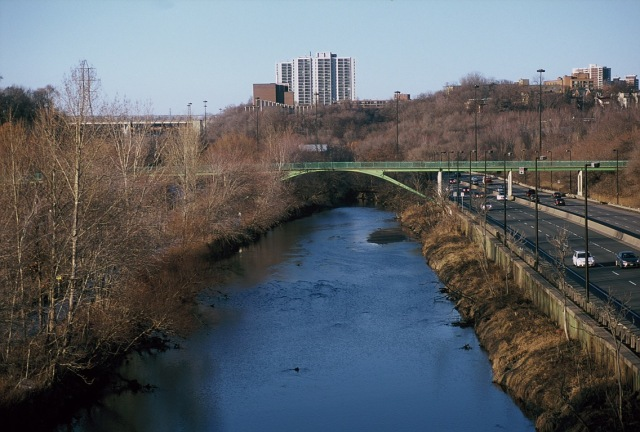 Don River near Broadview in Toronto. Shot on 35mm film. Street Photography by Dennis Riebenstahl.