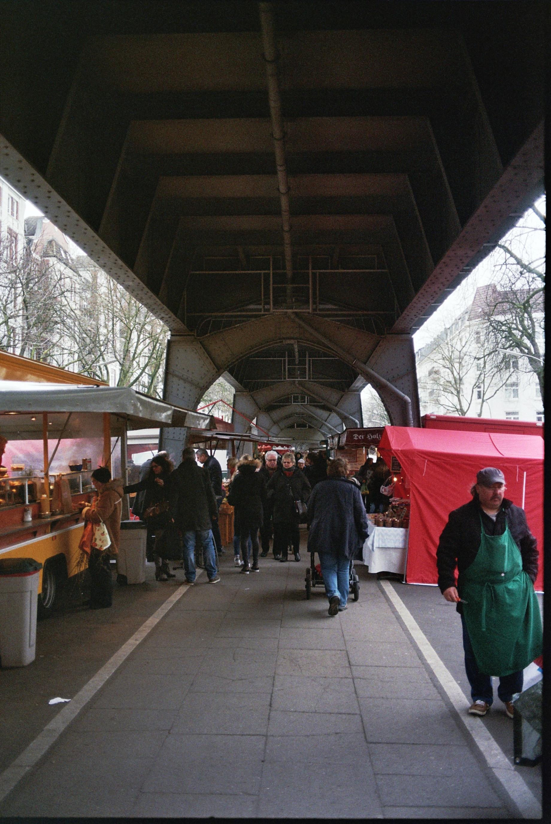 Isemarkt in Hamburg-Eppendorf. Shot on 35mm.