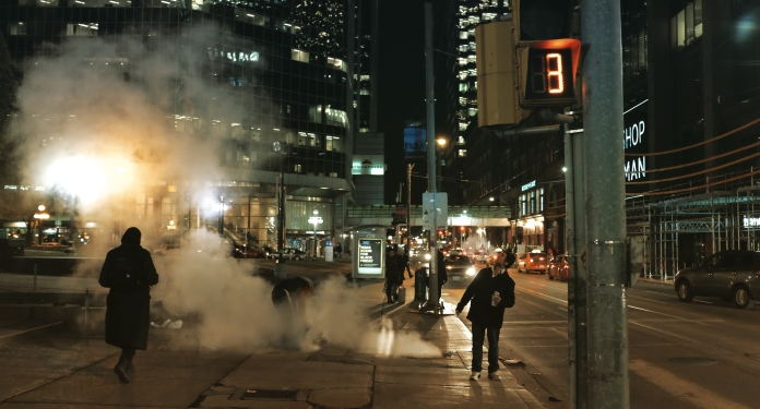 Smoke – Toronto Night Photography