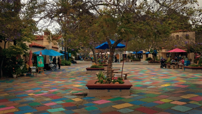 Spanish Village Art Center in San Diego's Balboa Park