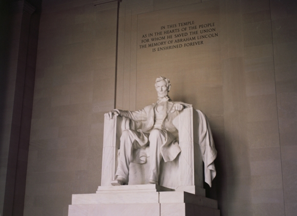 The Abraham Lincoln Memorial in Washington D.C.
