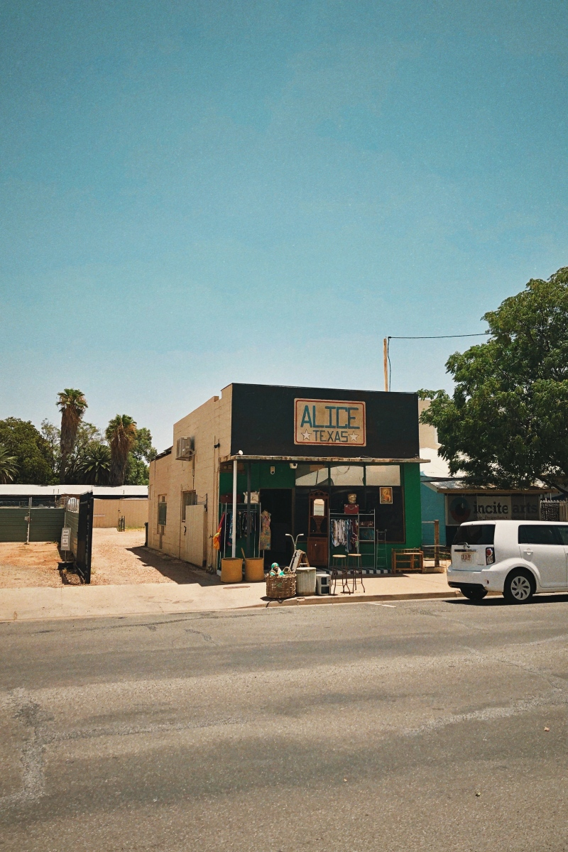 'Alice Texas' storefront in Alice Springs, Northern Territory. Photography by Dennis Riebenstahl.