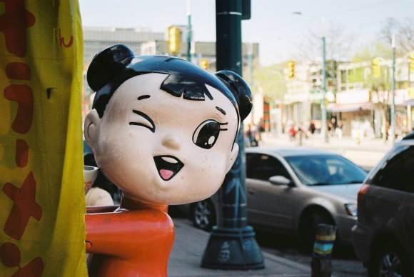 Restaurant Mascot in Chinatown Toronto